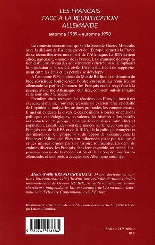 4eme Les Français face à la réunification allemande