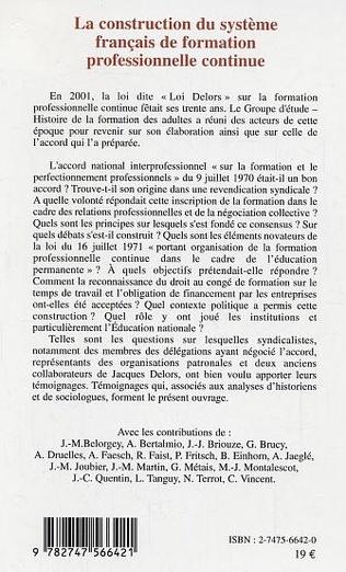 4eme La construction du système français de formation professionnelle continue