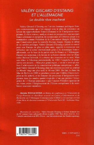 4eme Valéry Giscard D'Estaing et l'Allemagne