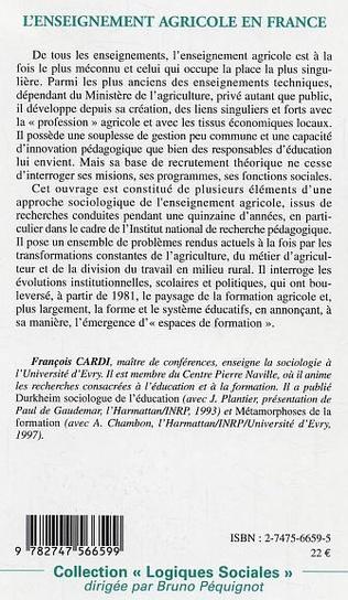 4eme L'enseignement agricole en France