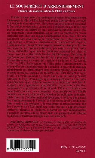 4eme Le sous-préfet d'arrondissement