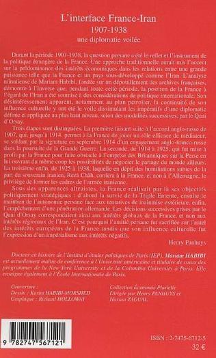 4eme L'interface France-Iran 1907-1938