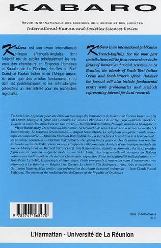 4eme Diversité et spécificités des musiques traditionnelles de l'Océan Indien