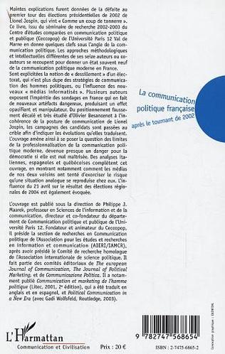 4eme La communication politique française après le tournant de 2002