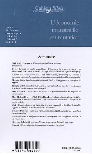 4eme L'économie industrielle en mutation (n°43-44)