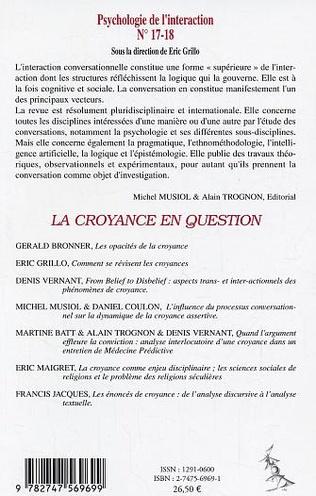 4eme From belief to disbelief : Lecture trans - & interactionnelle des phénomènes de croyances chez Russel