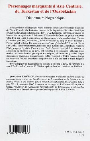 4eme Personnages marquants d'Asie centrale, du Turkestan et de l'Ouzbékistan