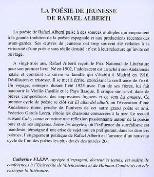4eme la poésie de jeunesse de Rafaël Alberti