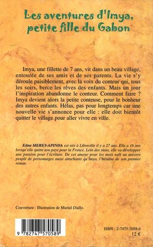 4eme Les aventures d'Imya petite fille du Gabon