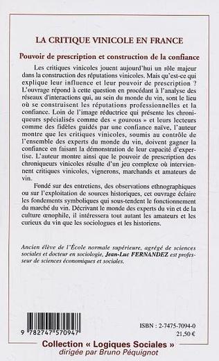 4eme La critique vinicole en France