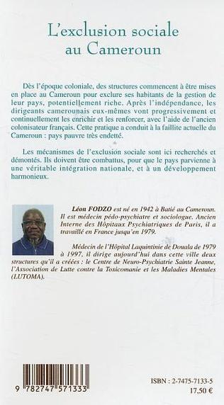4eme L'exclusion sociale au Cameroun