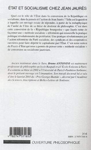 4eme Etat et socialisme chez Jean Jaurès