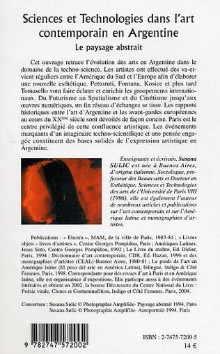 4eme Sciences et Technologies dans l'art contemporain en Argentine