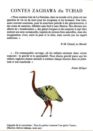 4eme Contes zaghawa du Tchad