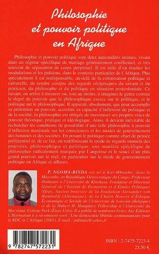 4eme Philosophie et pouvoir politique en Afrique
