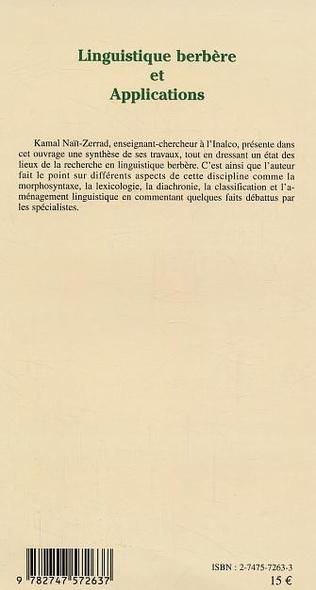 4eme Linguistique berbère et Applications