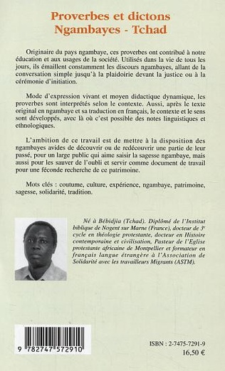 4eme Proverbes et dictons Ngambayes (Tchad)