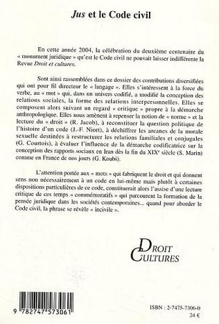 4eme Jus et le Code civil