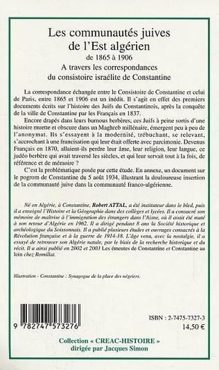 4eme Les communautés juives de l'Est algérien