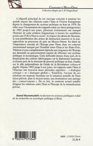 4eme Les enjeux principaux des relations entre l'Iran et l'Europe de 1979 à 2003