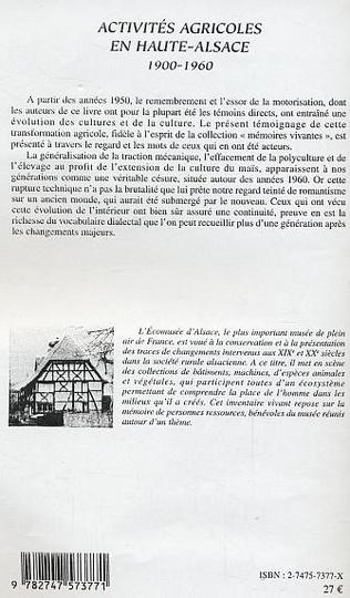 4eme Activités agricoles en Haute-Alsace