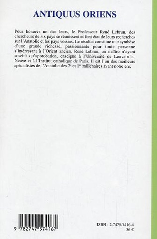 4eme Antiquus oriens