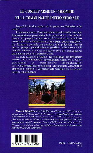 4eme Le conflit armé en Colombie et la communauté internationale