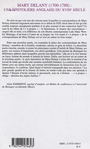 4eme MARY DELANY (1700-1788)