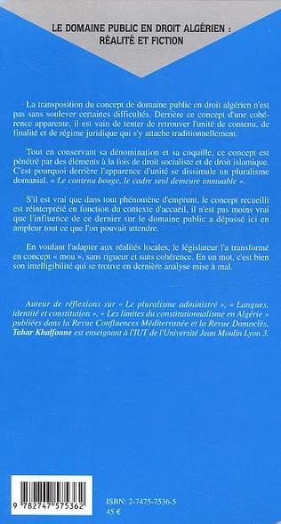 4eme Le domaine public en droit algérien : réalité et fiction
