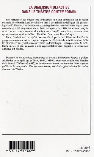 4eme La dimension olfactive dans le théâtre contemporain