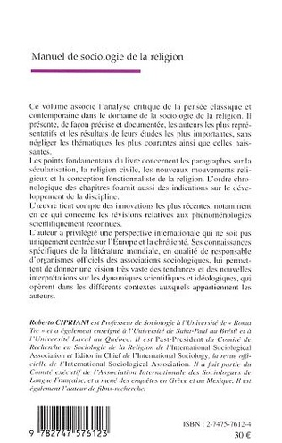 4eme Manuel de sociologie de la religion