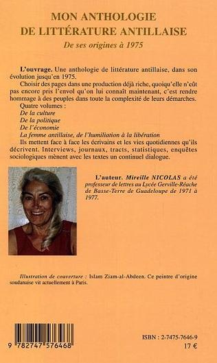 4eme Mon anthologie de littérature antillaise