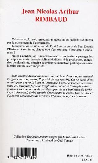 4eme Jean Nicolas Arthur Rimbaud
