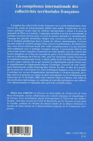 4eme La compétence internationale des collectivités territoriales françaises