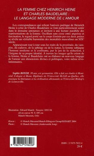 4eme La femme chez Heinrich Heine et Charles Baudelaire: le langage moderne de l'amour