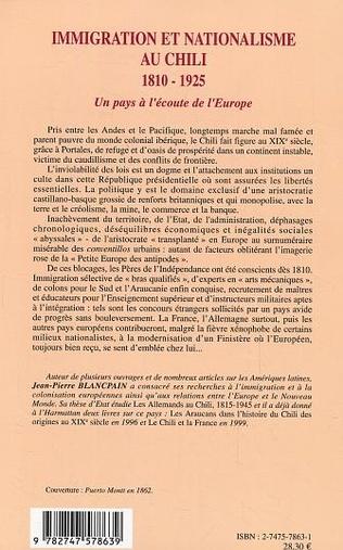 4eme Immigration et nationalisme au Chili 1810-1925
