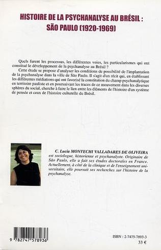 4eme Histoire de la psychanalyse au Brésil : São Paulo (1920-1969)