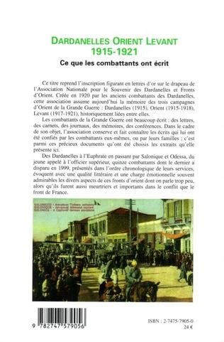4eme Dardanelles orient Levant 1915-1921