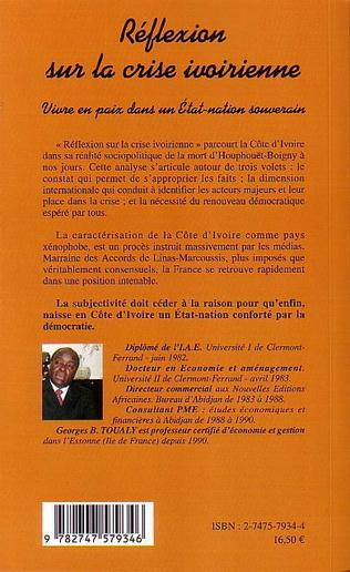 4eme Réflexion sur la crise ivoirienne