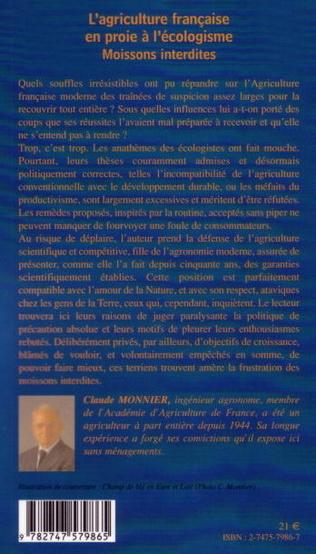 4eme L'agriculture française en proie à l'écologisme