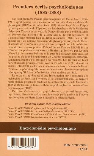 4eme Premiers écrits psychologiques