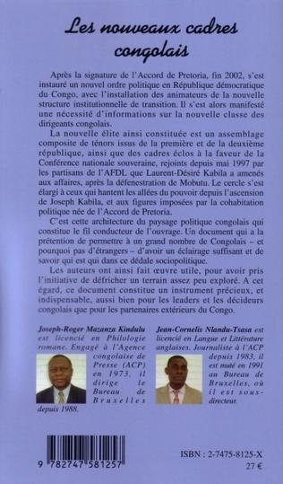 4eme Les nouveaux cadres congolais