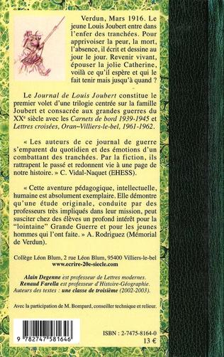 4eme Le Journal de Louis Joubert