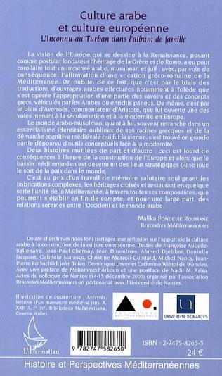 4eme Culture arabe et culture européenne