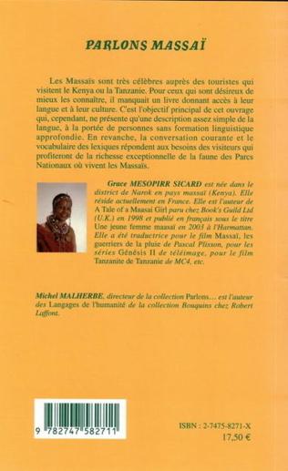 4eme Parlons Massaï