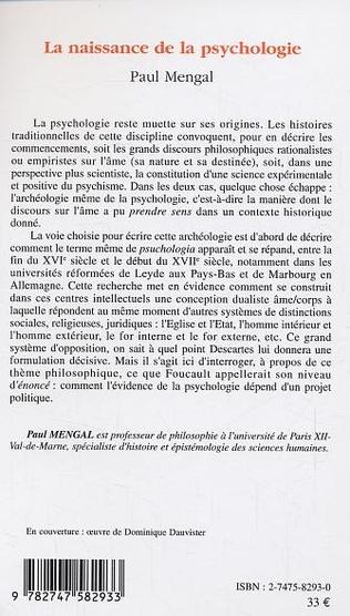 4eme La naissance de la psychologie