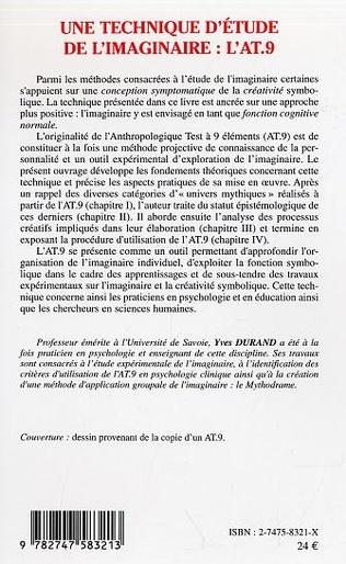 4eme Une technique d'étude de l'imaginaire : l'AT.9