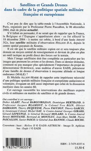 4eme Satellites et Grands Drones dans le cadre de la politique spatiale militaire française et européenne