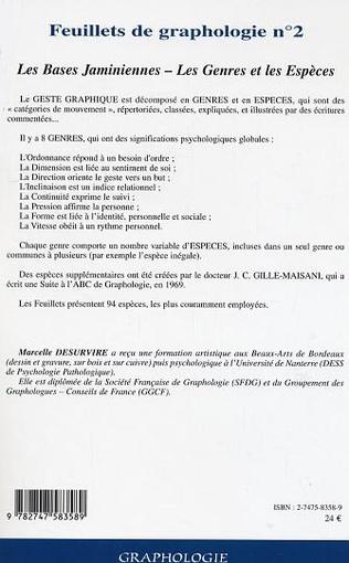 4eme Feuillets de graphologie n°2
