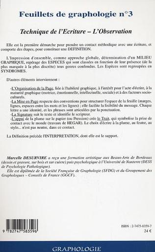 4eme Feuillets de graphologie n°3